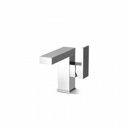 Mezclador de lavabo de palanca lateral sin desagüe en latón Made in Italy - Panela