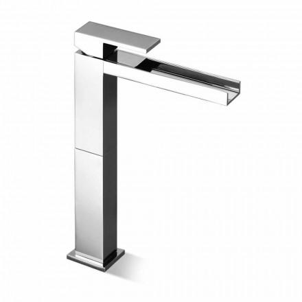 Mezclador moderno de lavabo de caño largo sin desagüe Made in Italy - Bibo