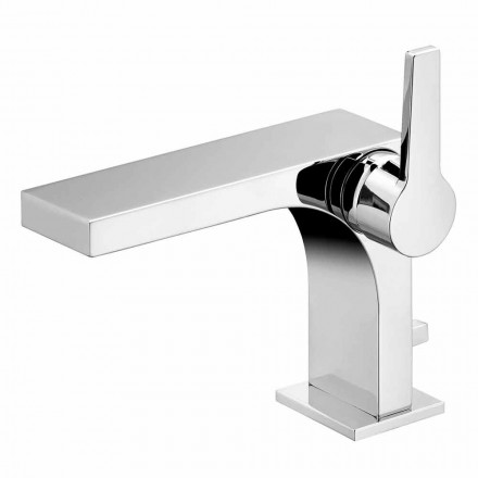 Mezclador monomando de lavabo con desagüe, de latón, de Design- Etto