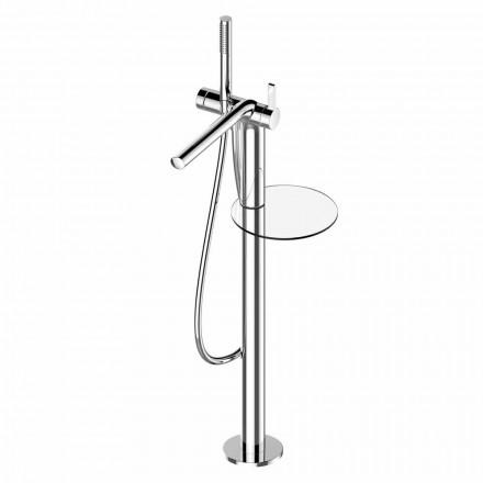 Mezclador monomando para bañera independiente con ducha de mano de latón - Pinto