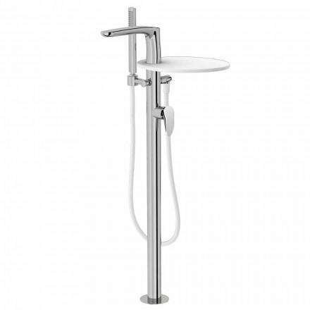 Mezclador de piso para bañera en latón de diseño Made Italy - Benello