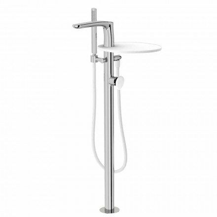 Mezclador de bañera de piso moderno Made in Italy - Palimio