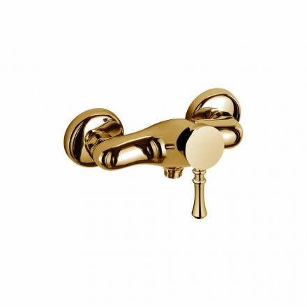 Mezclador de diseño para ducha exterior en latón Made in Italy - Neno
