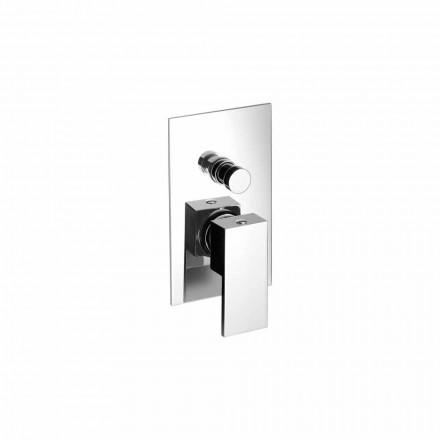 Mezclador de ducha o bañera empotrado de latón Made in Italy - Bibo