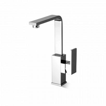Mezclador de lavabo de caño alto sin desagüe Made in Italy - Panela