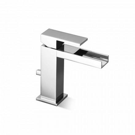 Mezclador de lavabo de baño con desagüe de latón Made in Italy - Bibo