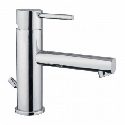 Mezclador de lavabo de baño moderno de latón cromado Made in Italy - Ermia