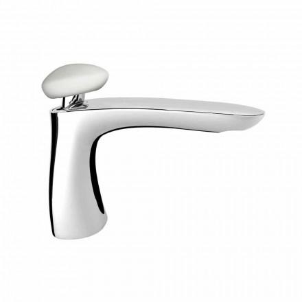 Mezclador de lavabo de baño moderno de latón Made in Italy - Besugo