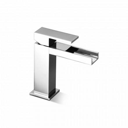 Mezclador de lavabo de diseño sin desagüe Made in Italy - Bibo