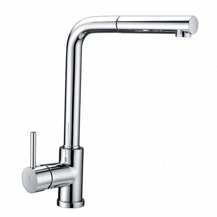 Mezclador de lavabo de latón con ducha de mano de ABS Made in Italy - Kalid