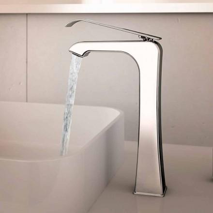 Mezclador de lavabo de latón cromado de diseño Made in Italy - Bonina