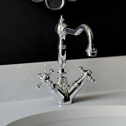 Mezclador monomando de lavabo en latón cromado Made in Italy - Binsu