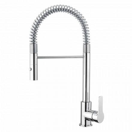 Mezclador de lavabo ajustable con resorte de latón Made in Italy - Cardio