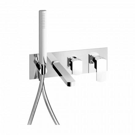 Mezclador de baño empotrado de diseño moderno en latón Made in Italy - Sika