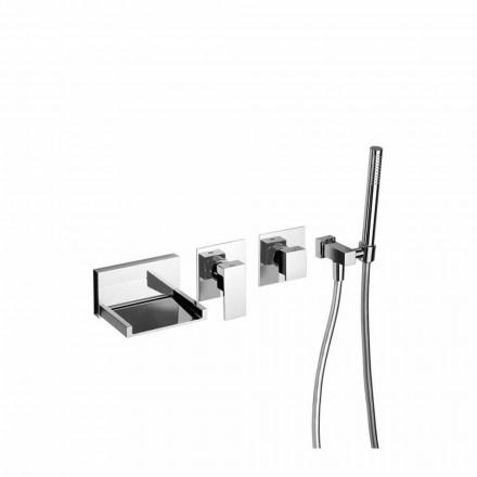 Mezclador de bañera empotrable de diseño Made in Italy - Bibo