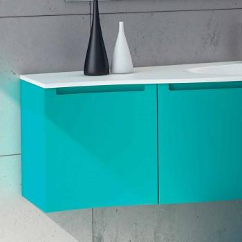 baño montado en la pared con lavabo integrado, 1cestone + 2ante alegría