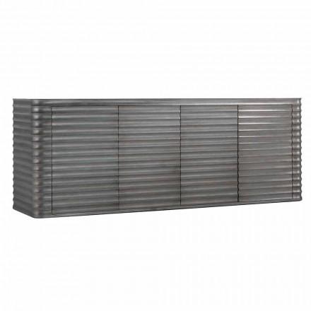 Armario con 4 puertas en diseño de madera moldeada, L230xP49 cm, Dana