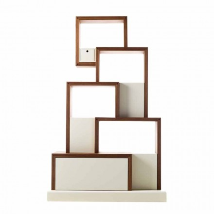 Mueble contenedor de madera de diseño Grilli My Cat hecho en Italia