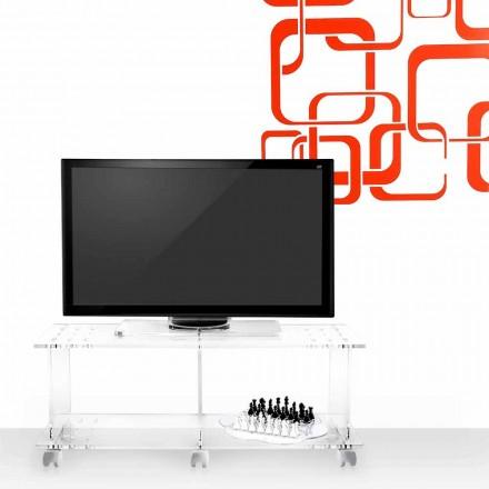 Mueble de televisión de diseño moderno en plexiglás transparente Mago