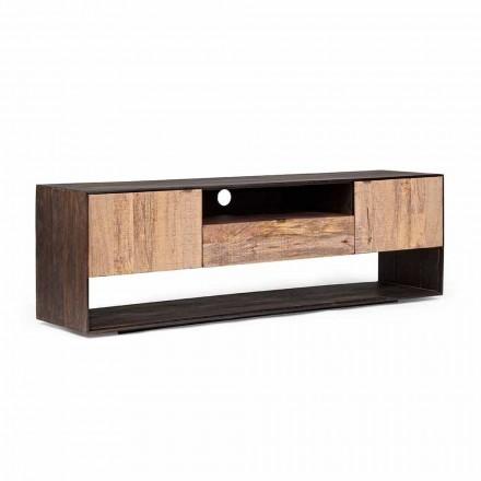 Mueble para TV Homemotion en madera de mango y madera contrachapada - Amilcare