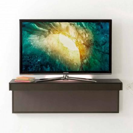 Mueble para TV suspendido con tapa de cristal satinado Made in Italy - Americio