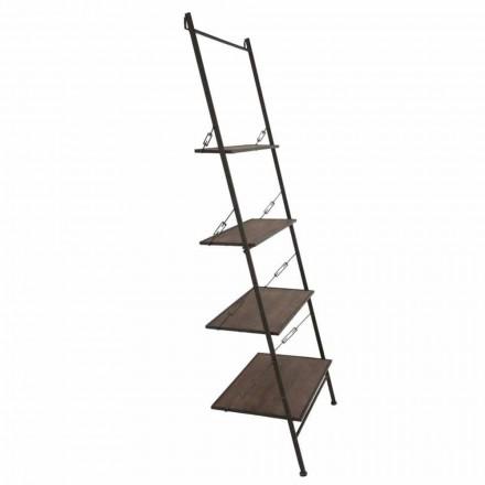 Gabinete de madera y metal de estilo industrial de diseño moderno - Denes