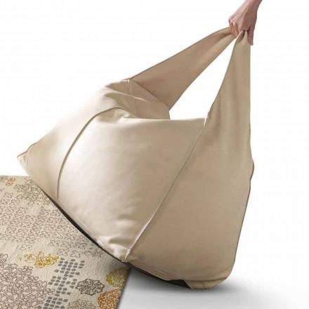 Puf de cuero de diseño moderno My Home Bag made in Italy