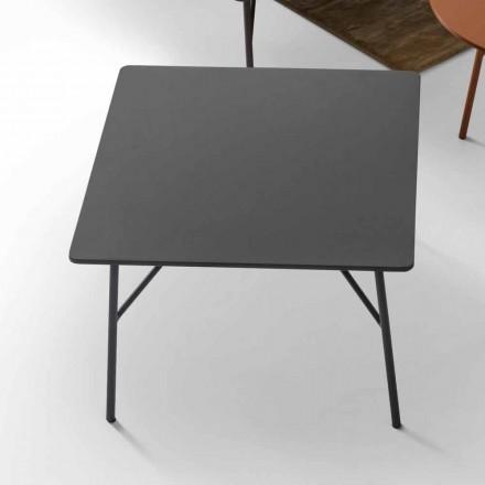 Mesa de centro en MDF gris antracita con diseño My Home Mek fabricado en Italia