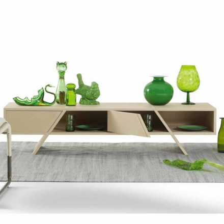 Aparador de diseño My Home Ray en MDF lacado hecho en Italia