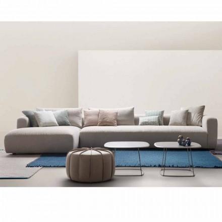 Sofá de diseño seccional en tejido My Home Softly made in Italy