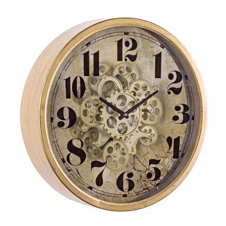 Reloj de Pared Redondo Diámetro 46,5 cm en Acero y Cristal Homemotion - Rando