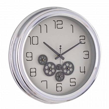 Reloj de pared de diseño vintage con estructura de acero Homemotion - Gimbo