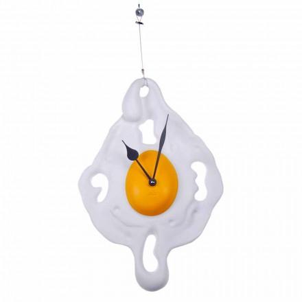 Reloj de pared Egg Design en resina pintada a mano Made in Italy - Eggo