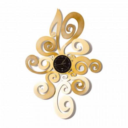 Reloj de pared de hierro de diseño moderno hecho en Italia - Noel