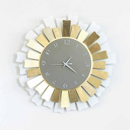 Moderno reloj de pared circular de hierro de dos tonos hecho en Italia - Lussuria