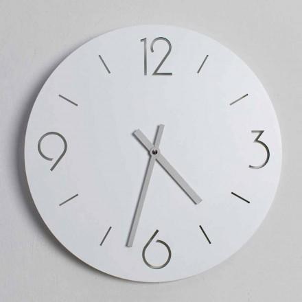 Reloj de pared blanco de diseño clásico en madera redonda - Septimius