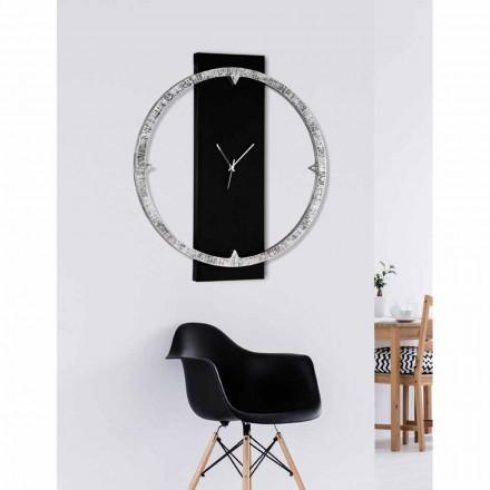 Reloj de pared decorado a mano en material hecho en Italia Agostino