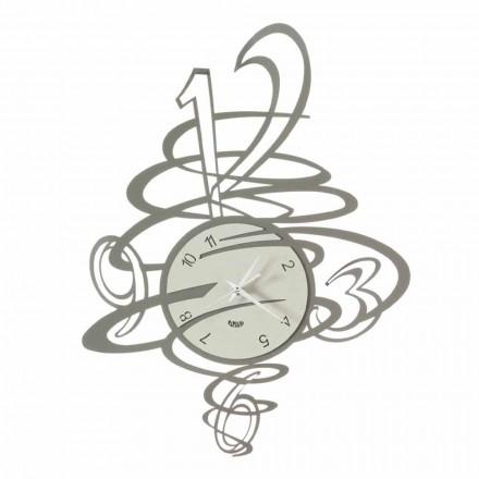 Reloj de pared de hierro de diseño elegante y moderno Made in Italy - Mikele
