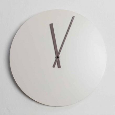 Reloj de pared de diseño industrial moderno a color Made in Italy - Fobos