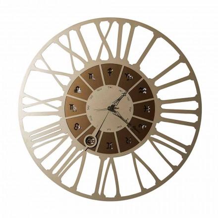 Made in Italy Reloj de pared de hierro en dos tonos - Capricornio