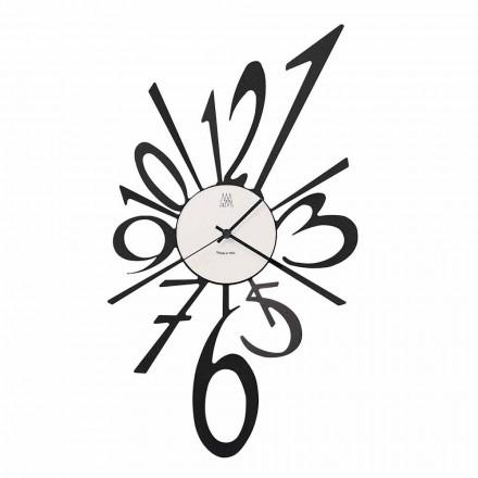 Reloj de pared de diseño en hierro negro o aluminio Made in Italy - Oceano
