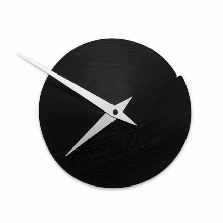 Reloj de pared redondo Diámetro 19.5 cm en madera Made in Italy - Cratere