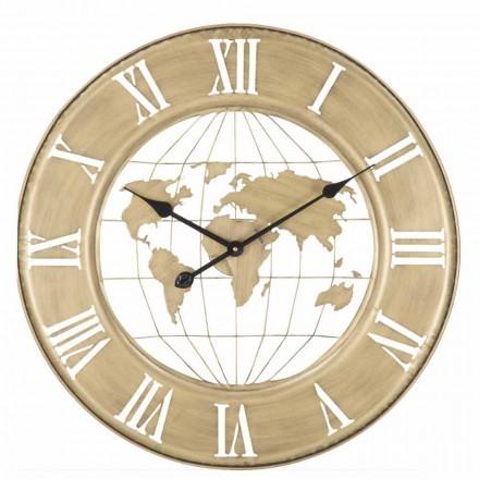 Reloj de pared Diámetro 63 cm de diseño moderno en hierro - Telma