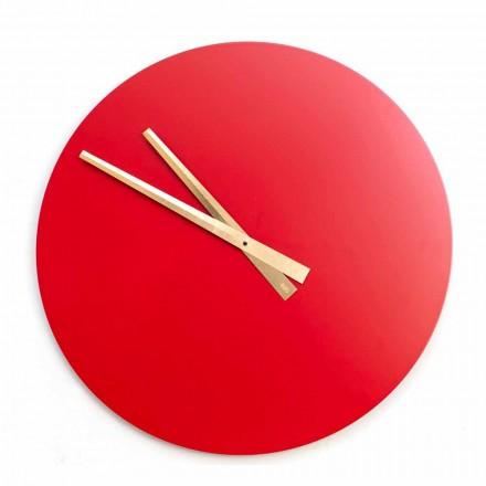 Reloj de pared moderno de color grande en madera redonda - Dione