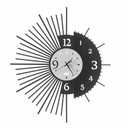 Reloj de pared de hierro de diseño elegante Made in Italy - Aneto
