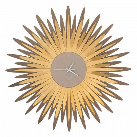 Reloj de pared moderno con forma de hierro en Made in Italy - Fuoco