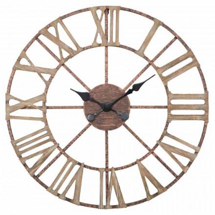 Reloj de pared moderno Diámetro 71.5 cm en hierro y MDF - Carcans