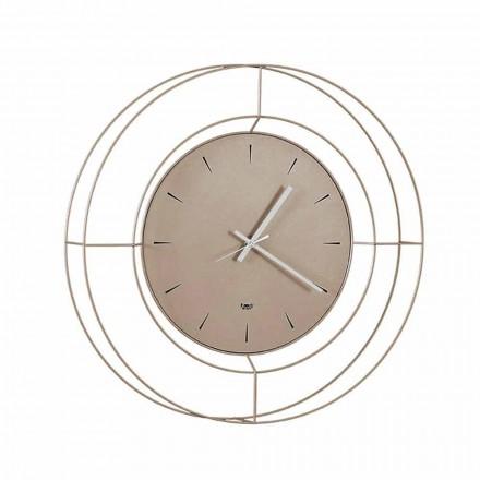 Reloj de pared moderno en acero coloreado hecho en Italia - Adalgiso
