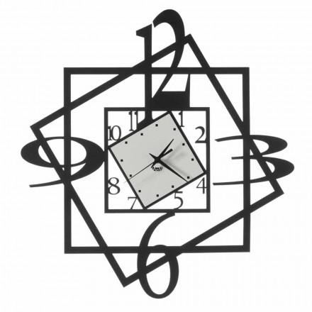 Reloj de pared de hierro moderno con diseño geométrico Made in Italy - Procida