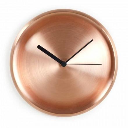 Reloj de pared redondo con diseño de cobre pulido Made in Italy - Ogio